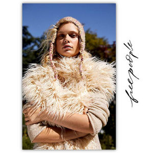 NWT Free People Faux Fur Scarf/Wrap